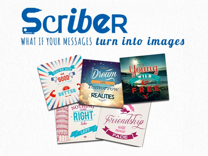 Pilot Scriber : what if your messages turn into images