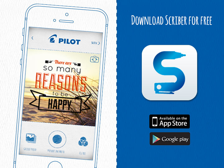 Pilot Download Scriber for free on AppStore or PlayStore