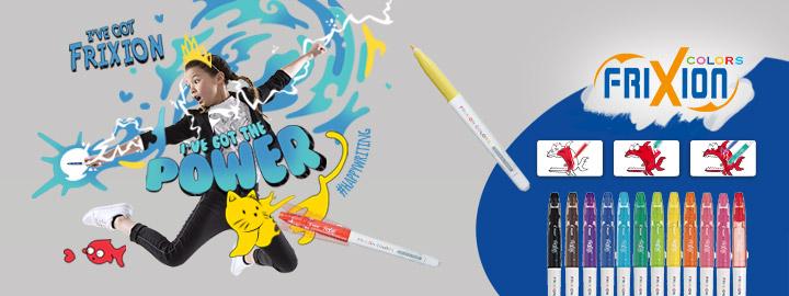 FriXion Colors thermosensitive felt pens by Pilot