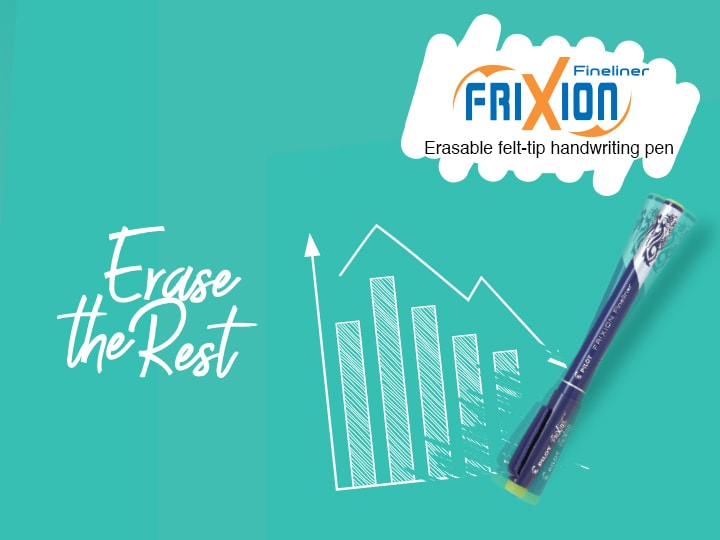 Writing erasable felt-tip pen Pilot FriXion Fineliner