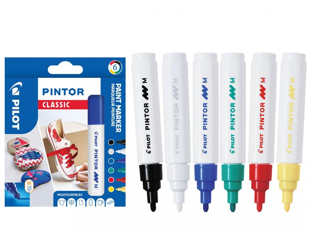 Pilot Pintor - Wallet of 6 - Classic colours - Medium Tip