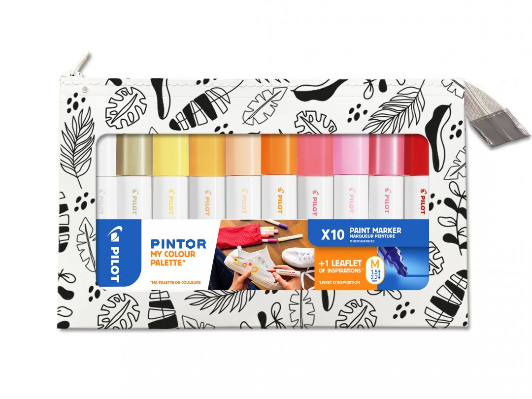 Pilot Pintor - My Colour Palette - Set of 10 - Warm colours - Medium Tip