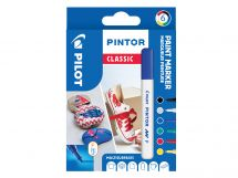 Pilot Pintor - Wallet of 6 - Classic colours - Fine Tip