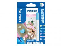 Pilot Pintor - Wallet of 6 - Pastel colours - Extra Fine Tip