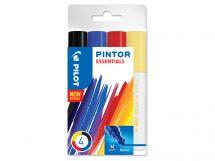 Pilot Pintor - Wallet of 4 - Assorted colors - Medium Tip