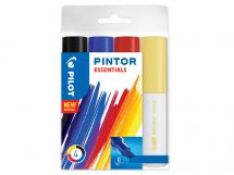 Pilot Pintor - Wallet of 4 - Assorted colours - Broad Tip