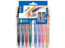 FriXion Ball - Set2Go - 8 pens - Black, Blue, Red, Green, Sky Blue, Purple, Coral Pink, Apricot - Medium Tip