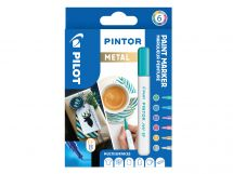 Pilot Pintor - Wallet of 6 - Metallic colours - Extra Fine Tip