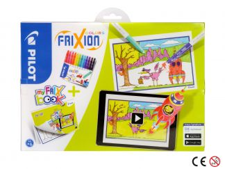 FriXion Colors - Set My FriX Book x 12 - Assorted colors - Medium Tip