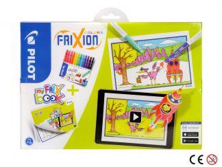 FriXion Colors - Felt Pen - Set FriX Book x 12 - Medium Tip