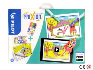 FriXion Colors - Set My FriX Book x 6 - Assorted colours - Medium Tip