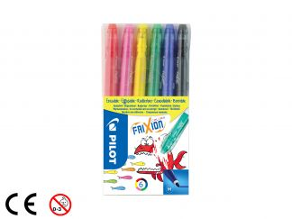 FriXion Colors - Set of 6 - Assorted colors - Medium Tip