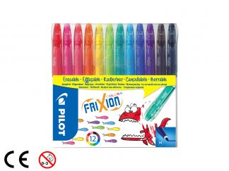 FriXion Colors - Set of 12 - Assorted colors - Medium Tip