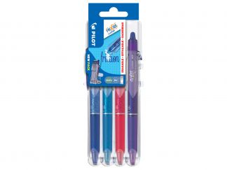 FriXion Ball Clicker 0.7 - Set2Go - 4 pens - Blue, Pink, Violet, Light Blue - Medium Tip