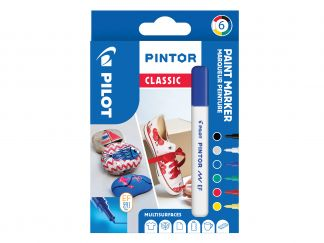 Pilot Pintor - Wallet of 6 - Classic colours - Extra Fine Tip